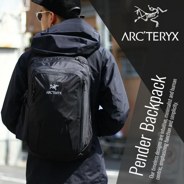 【期間限定送料無料!】ARC'TERYX [アークテリクス] / Pender Backpack -Black/Black- (アークテリクス バックパック ディパック リュック バッグ カバン メンズ)L06960000【STD】