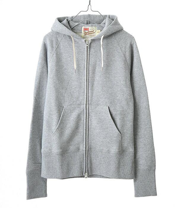 Traditional Weather Wear [トラディショナルウェザーウェア] / SWEAT PARKA-GREY- (スウェットパーカー ジップパーカー フード) L182HJCD0001B-SW01【ANN】