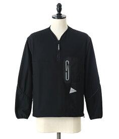 and wander / アンドワンダー : light fleece pullover : ライトフリースプルオーバー フリース アウター メンズ : AW83-JT031 【PIE】