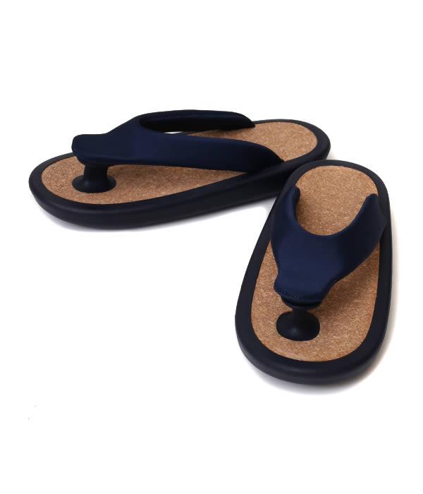 "JOJO [ジョジョ] / ""BEACH SANDAL""NAVY(S・Mサイズ) (ビーチサンダル シューズ ゲタ ぞうり 下駄 草履 靴 ビーサン) JOJO-BASIC-NAV-SM 【MUS】"