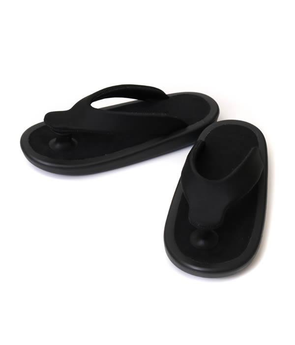 "JOJO [ジョジョ] / ""BEACH SANDAL""ALL BLACK(S・Mサイズ) (ビーチサンダル シューズ ゲタ ぞうり 下駄 草履 靴 ビーサン オールブラック) JOJO-BASIC-ALLBLK-SM 【MUS】"