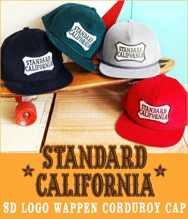 STANDARD CALIFORNIA [ スタンダードカリフォルニア ] / SD LOGO WAPPEN CORDUROY CAP / 全4色 (スタカリ キャップ ロゴ ワッペン コーデュロイ メンズ ユニセックス スタンダードカルフォルニア) OTCOX063【PIE】