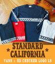 STANDARD CALIFORNIA (スタンダードカリフォルニア) / VANS × SD CHECKER LOGO LS / 全4色 (スタカリ ヴァンズ...