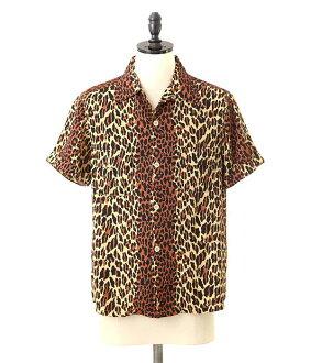 HUMAN MADE( human maid) LEOPARD SHIRT (shirt short sleeves Leo soft-headed doh) HM6-SH-003