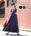 【サマーキャンペーン!】MARIHA / マリハ : 【レディース】夏の月影ドレス / 全3色 : ドレス ワンピース ロング丈 Vネック ノースリーブ : 861302005 【ANN】