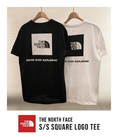 THE NORTH FACE / ノースフェイス ザ・ノースフェイス : S/S Square Logo Tee : スクエア ロゴ Tシャツ メンズ : NT32038 【WAX】