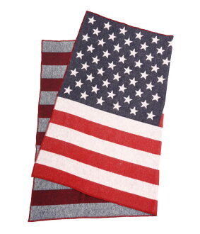 Faribault Woolen Mills (faribaltuhrenmills) / Double Cloth Flag Throw (throw blanket mat wool) FWM-1862