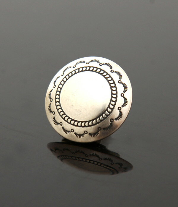 Native American Jewelry / ネイティブ アメリカン ジュエリー : INDIAN JEWELRY BUTTON COVER -2- (コンチョ ボタン)12SSIJ65-2【AST】