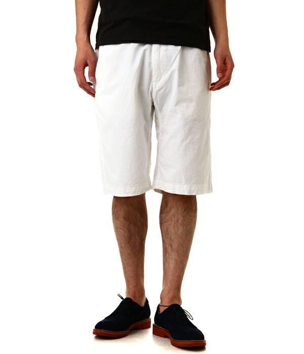 【期間限定ポイント20倍!】MASTER&CO / マスター&コー : Short Chino Pant with Belt-ホワイト : ショート チノ パンツ ショーツ ベルト : MC075-WHT 【STD】