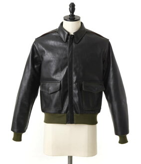 Aero Leather Type a-2 leather flight jacket a-2 leather Jean leather jacket AL-a2-blk