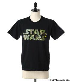 【アウトレットキャンペーン!】narifuri / ナリフリ : STARWARS ドットカモロゴ Tシャツ : スターウォーズ Tシャツ 半袖 カットソー : NF773【NOA】