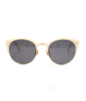 A. D. S. R. / DIMITRI MATTE WHITE/GOLD (hand made men's women's, eDiets are sunglasses eyeglasses, ADSR) DIMITRI05