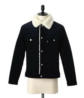 MAISON KITSUNE [Maison Fox] / CORDUROY TURCKER JACKET (Fox outerwear windbreaker jacket cordery) FW15M243-AN