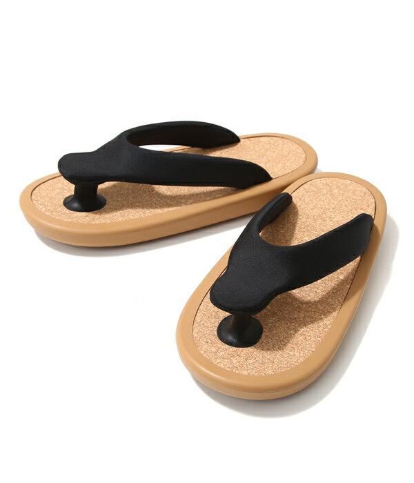 "JOJO [ジョジョ] / 別注""BEACH SANDAL"" BLK/BEG (S・Mサイズ) (サンダル ビーチサンダル ジョジョ 別注 オンリーアーク ゲタ ぞうり 下駄 草履 靴 ビーサン) JOJO-ARK-BLK-BEG-SM 【MUS】【WIS】"
