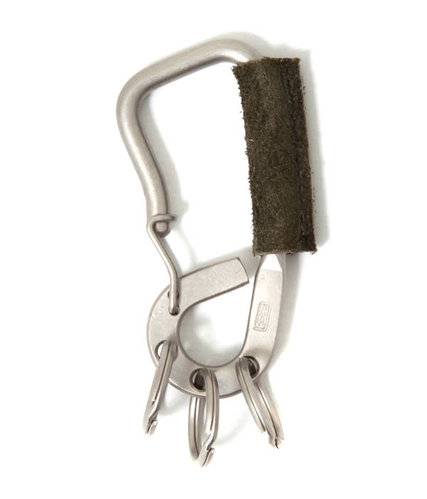 hobo(ホーボー) / Brass Carabiner with Cow Leather (Brass Carabiner with Cow Leather レザー キーホルダー アクセサリー) HB-A2703【NOA】