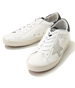 GOLDENGOOSE[ゴールデングース]/【レディース】SNEAKERSSTAR-WHITEBLACKGOLDLETTERING-(ゴールデングーススニーカー靴シューズ革靴レザー)G32WS590-E73【ANN】