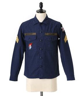 Marka [마커]/JL UTILITY SHIRTS (유틸리티 셔츠 밀리터리 셔츠) MSTD-10SH01C-nav