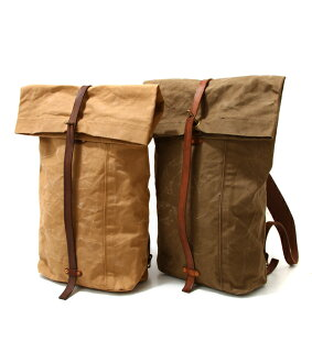 VASCO (Vasco) and CANVAS LEATHER ROLLTOP RUCKSACK / 2 colors (Vasco v leather canvas) VS-205