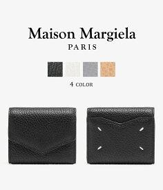 【送料無料】Maison Margiela / メゾン マルジェラ : LEATHER WALLET / 全4色 : レザーウォレット レザーサイフ 三つ折り 革財布 ミニウォレット メンズ レディース : S56UI0136【RIP】【BJB】【ANN】