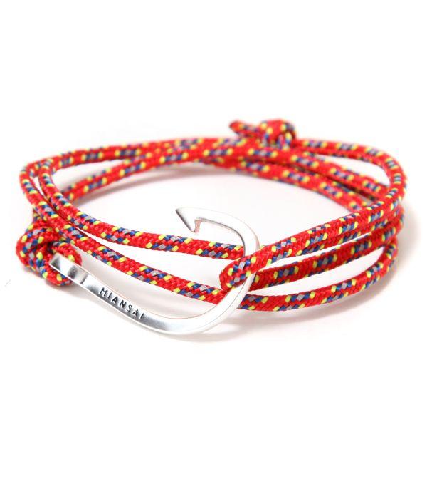 【SPECIAL PRICE!】MIANSAI / ミアンサイ : Silver Tone Hook : ブレスレット ミアンサイ マイアンサイ : MB00001S-RED 【PIE】
