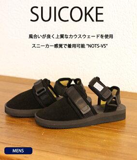 SUICOKE [sicock] / 不容忽视-VS-BLK-(25-28 厘米) / (男士吊带凉鞋 Vibram 唯一 Vibram) OG-061-VS-BLK