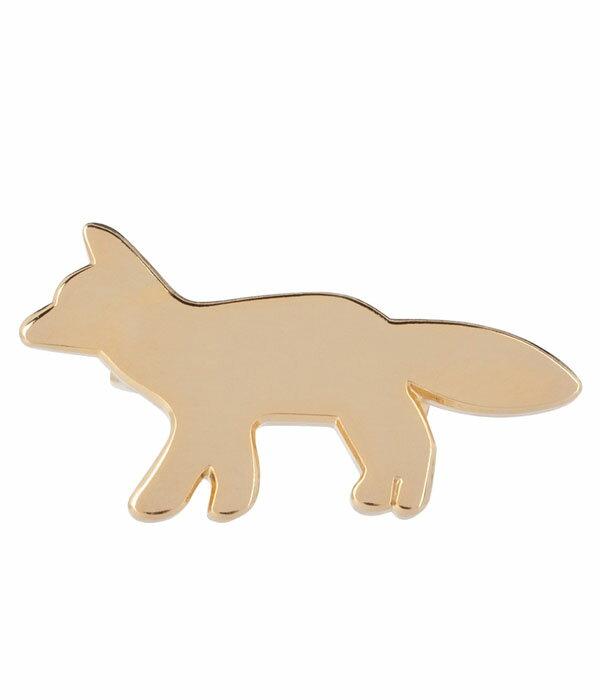 【SALE/セール】MAISON KITSUNE / メゾンキツネ : FOX BROOCH(メゾンキツネ キツネ ブローチ バッチ アクセサリー フォックス)KUZ8658-bjb【RIP】【BJB】