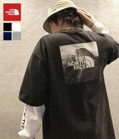 【残りわずか!】THE NORTH FACE / ノースフェイス ザ・ノースフェイス : S/S Pictured Square Logo Tee : ピクチャー スクエア ロゴ Tシャツ メンズ : NT32036 【WAX】【REA】