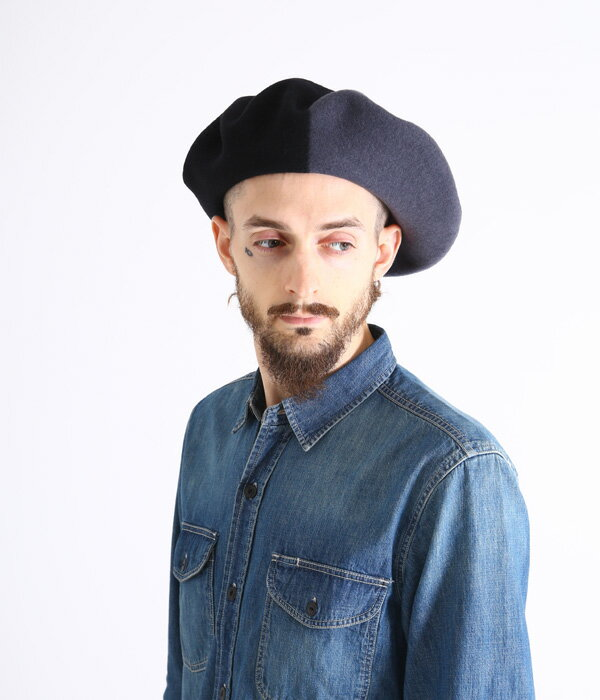 BUENA VISTA / ブエナビスタ : Basque Beret (13.5) ブラック×グレイ / (バスク ベレー ベレー帽 帽子 バスクハット) TDB-07【ARK】【WIS】