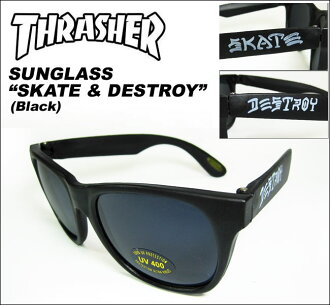 THRASHER (slasher) / sunglasses /SKATE & DESTROY [Black]
