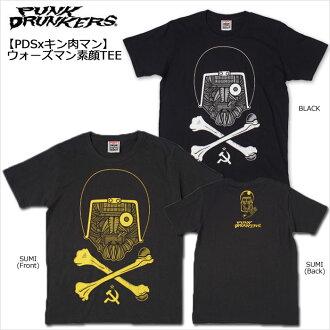 ☆ SALE ☆ PUNK DRUNKERS (pancudrunkers) /PDS x kinnikuman man / warsman face TEE