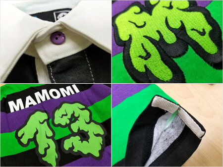 【MxMXM】MAGICALMOSHMISFITS(マジカルモッシュミスフィッツ)/MAMOMIラガーシャツ