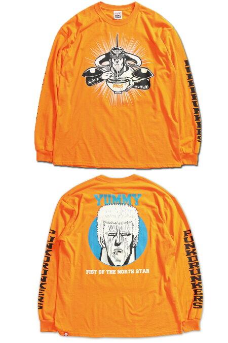【予約】PUNKDRUNKERS(パンクドランカーズ)/PDSx北斗の拳/ラオウのロンTEE/2018年9月中旬〜下旬入荷予定