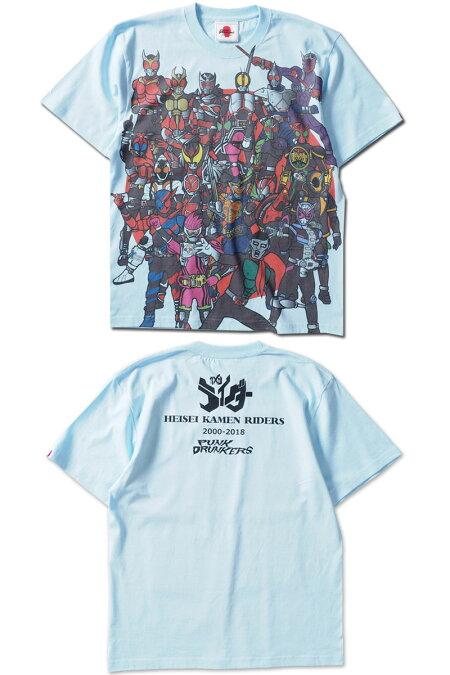 【予約】PUNKDRUNKERS(パンクドランカーズ)/PDSx仮面ライダー/平成ライダー集合TEE/2019年3月入荷予定