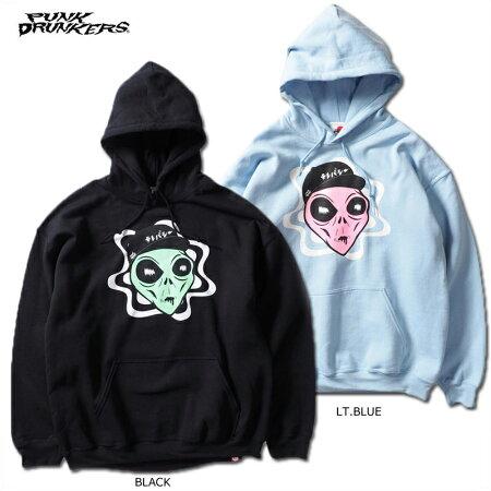 【予約】PUNKDRUNKERS(パンクドランカーズ)/宇宙人パーカ/2019年3月入荷予定