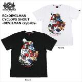 【ロリクレ】ROLLINGCRADLE(ローリングクレイドル)/RCxDEVILMANCYCLOPSSHOUT-DEVILMANcrybaby-/T-shirts/半袖Tシャツ