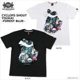 【ロリクレ】ROLLINGCRADLE(ローリングクレイドル)/CYCLOPSSHOUTYOUKAI-FORESTBLUE-/T-shirts/半袖Tシャツ/ゲゲゲの鬼太郎