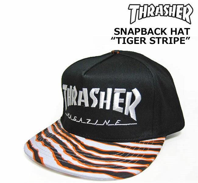 【SALE】THRASHER(スラッシャー)/スナップバックキャップ/SKATE MAG TIGER STRIPE