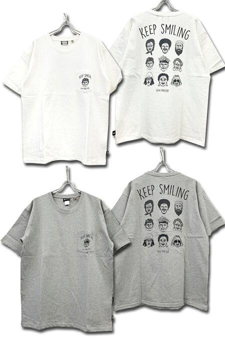 gymmaster(ジムマスター)/G233689/KEEPSMILINGTEE/半袖Tシャツ/ナノファイン加工/汗染み軽減/ビッグシルエット