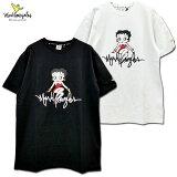 MARKGONZALES(マーク・ゴンザレス)/BETTYBOOPコラボサインロゴTシャツ/2G7-4306