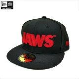 NEWERA(ニューエラ)×JAWS/59FIFTYJAWSジョーズタイトルロゴブラック/ベースボールキャップ