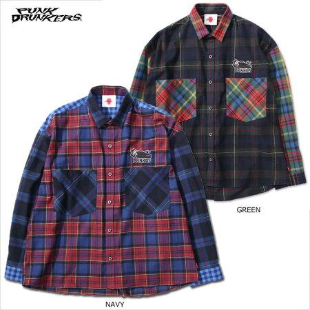 【予約】PUNKDRUNKERS(パンクドランカーズ)/ビッグポケ寝るシャツ/11月入荷予定
