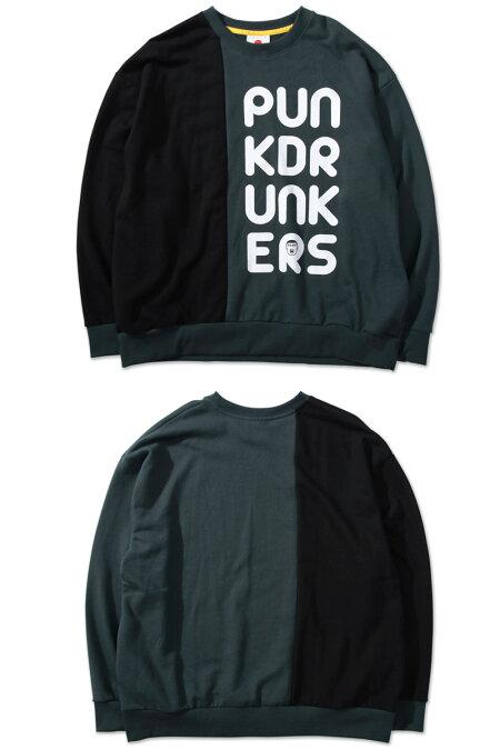 【予約】PUNKDRUNKERS(パンクドランカーズ)/2/3たっぷりトレーナー/11月入荷予定