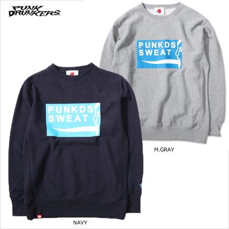 【予約】PUNKDRUNKERS(パンクドランカーズ)/スウェットレーナー/9月入荷予定
