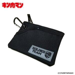 【キン肉マン】KMA SOLDIER TEAM シリコンワッペン付きコインパスケース[BLACK]/マッスルアパレル