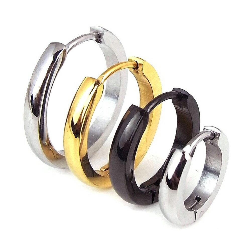 フープピアス 両耳セット リング メンズ レディース ゴールド シルバー ブラック 金 銀 黒 金属アレルギー対応 ステンレス シンプル わっか 人気 小さめ 中折れ 送料無料