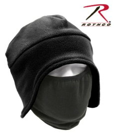 【正規品】ロスコ/ROTHCO 防寒用 フリース 帽子 フェイスマスク付 ブラック 8943【メール便配送可】
