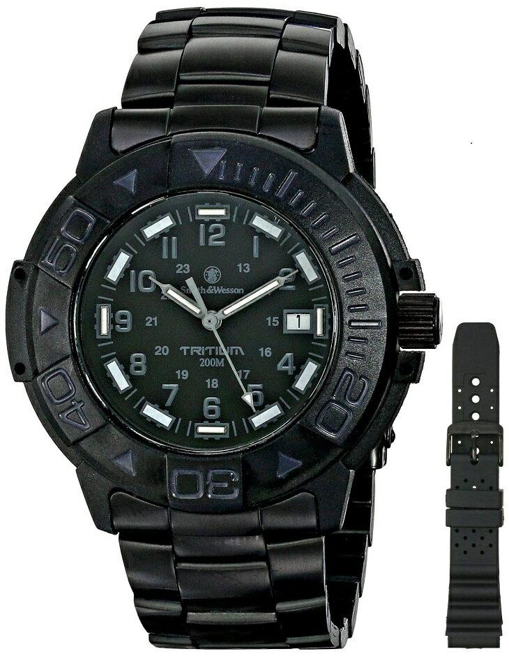 【特価】【正規品】スミス&ウェッソン/S&W DIVER ダイバー ウォッチ 発光トリチウム 腕時計 SW900BK【送料無料】