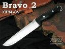 Bark River / バークリバーナイフ #BA07221MBC Bravo2 ブラボー2 3V/ブラック キャンバス マイカルタ