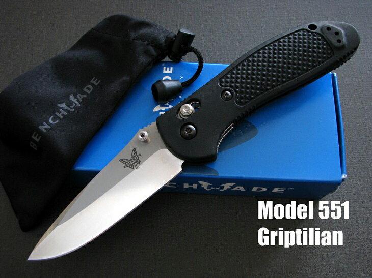 【送料無料】正規ディーラー品 ベンチメイド/BENCHMADE 551 Griptilian シルバー/直刃ナイフ