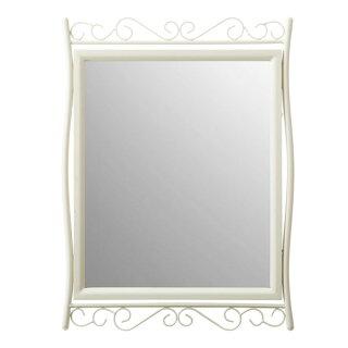 鏡姿見ウォールミラー50ミラー掛け壁アンティーク壁掛けミラー玄関かがみ壁掛けメイクルームミラーメイクアップ洗面台ラグジュアリー洗面鏡姫系インテリア大人カワイイかわいい女性フレンチ掛け鏡リビングおしゃれアイボリーインテリアミラー